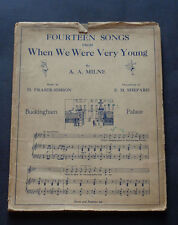 FOURTEEN SONGS From WHEN WE WERE VERY YOUNG: A A Milne / Music / Childrens 1938
