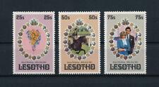Lesotho #335-7 MNH, Royal Wedding, 1981