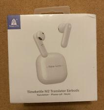 New listing Timekettle M2 Language Translator Earbuds W Offline App Download Credit Read!