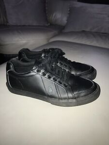 Ralph Lauren Black Leather Gents Trainers Size 39