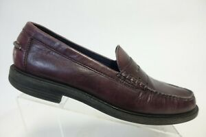 COLE HAAN Red Sz 12 M Men Pinch Leather Penny Loafers