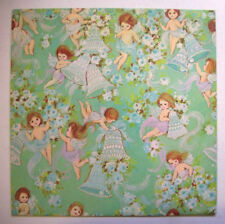 Vintage Wedding gift wrap wrapping paper Bells fairies angels