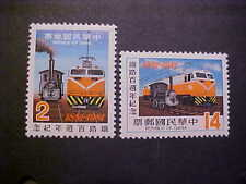 CHINA  Sct # 2244-5 RAILROAD SERVICE MNH