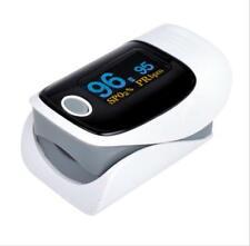 Fingertip Pulse Oximeter Blood Oxygen Saturation Monitor OLED Display Gray