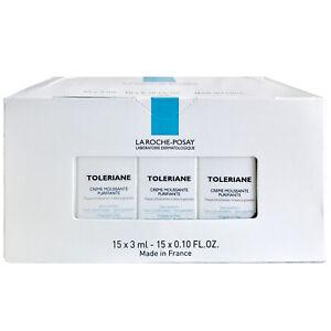 15 La Roche-Posay TOLERIANE Purifying Foaming Cream Cleanser .10 oz ea EXP 11/17