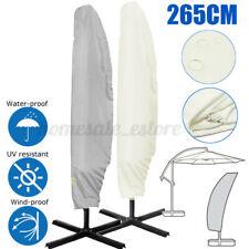 265cm Waterproof Garden Parasol Banana Umbrella Patio Cover Outdoor Protector