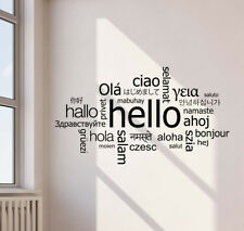Hello In Different Languages Wall Decal Welcome Office Vinyl Sticker Decor 803