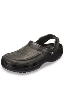Crocs Men's Yukon Vista Clog Slip On Shoes with Adjustable Fit. Black-size11