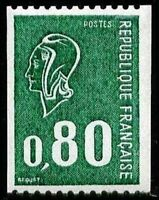 "FRANCE STAMP TIMBRE YVERT N° 1894 "" MARIANNE 80c VERT DE ROULETTE "" NEUF xx LUXE"