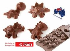 DINOSAUR Chocolate Mould Jelly Ice Cube Tray Decorate Cake Pop Out Silicone Mold