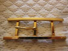 boucle de ceinture vintage métal doré effet echelle 6 cm