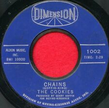 "THE COOKIES ""Chains/Stranger In My Arms"" Dimension 1002 VG++ Soul"