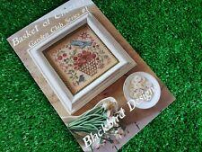 Garden Club Series 1: Basket of Cherries Blackbird Designs Cross Stitch Pattern