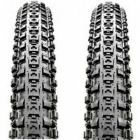 "1 Pair Maxxis Crossmark MTB Tyres 26 x 2.10"" Black Mountain Bike Tires Wire Bead"