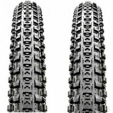 "1 Pair Maxxis Crossmark MTB Tyres 26 x 2.10"" Black Mountain Bike Tires Wire Bead"