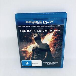 THE DARK KNIGHT RISES Blu-ray Region B Batman VGC Free Tracked Shipping