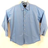 Mens Vintage Oxford Nautica Long Sleeve Button down size 34/35 17.5 neck