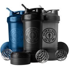 Garrafa Blender Gold's Gym prostak 22 Oz Shaker com torção N 'Lock Potes De Armazenamento