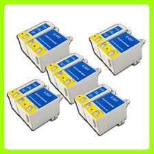 10 ink Cartridges Replace for Epson Stylus C44 C44+ C44UX C46 C42 Printer