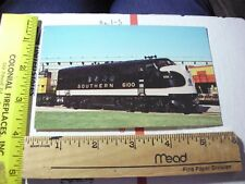 6100 Southern SOU Streamliner Railroad Train round houde station McCook ILL