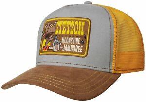STETSON TRUCKER CAP BASEBALL MESH SNAP CAP KAPPE MOONSHINE JAMBOREE NEU TREND