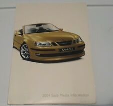 2004 Saab 9-3 Convertible 9-3 Sedan 9-5 Press Kit Media Information PICTURE CD