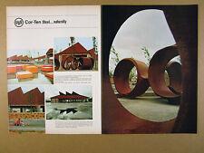 1969 USS Cor-Ten Steel albina improvement project portland or vintage print Ad