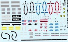11039 RACE CAR ACCESSORIES Seat Belts Logos Grills Gofer 1/24 - 1/25 Decals