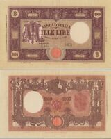 1942 Italia Banconota Lire 1000 Grande M D.M. 12-12-1942 Rara 2 Vedi Foto
