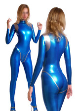 Latex Rubber Gummi Ganzanzug Catsuit Navy blue Zentai Bodysuit Anzug Size XS-XXL