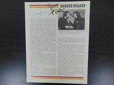 Johnny Cash & Ronnie Milsap Hand Signed Magazine Page Todd Mueller COA