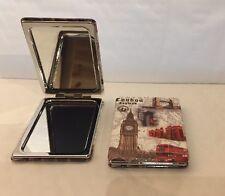 London Pocket Purse Handbag Mirror Travel Compact Folding Makeup Girls ladies UK