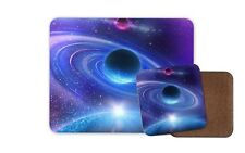Funky Purple Space Mouse Mat & Coaster Set - Brother Son Dad Gift Science #8077