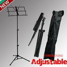 Adjustable Folding Sheet Music Stand Score Holder Mount Tripod Carrying Bag US T
