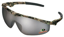 CREWS Mossy Oak Camo Safety Shooting Glasses Sunglasses with Silver Mirror Lens