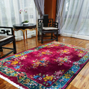 A Must See Antique 9' x 12' Art Deco Chinese Rug