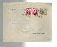 1937 Las Palmas Spain Cover to Czechoslovakia