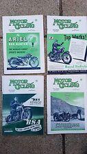 4 VINTAGE MOTOR CYCLING MOTORCYCLE BRITISH UK MAGS 1951 BSA NORTON ARIEL TRIUMPH