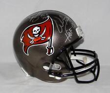 Warren Sapp Derrick Brooks Signed Tampa Bay Silver F/S Helmet W/ HOF- JSA W Auth