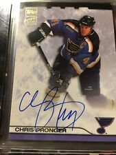 2000-01 Topps Hockey  ▪ CHRIS PRONGER ▪  Certified Autograph Issue  Auto  Blues