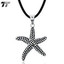 TT 316 Stainless Steel Star Fish Pendant Necklace (NP284)