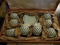 TEACUPS AND SAUCERS,VINTAGE, Powder Blue, Never been used, 14 piece set