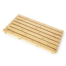 Non Slip Wooden Folding 60 X 37cm Slatted Duck Board Bath Mat Shower Bathroom