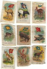 1915 Tobacco Cigarettes Silks Sc-1 Animals & Flags Lot of 23