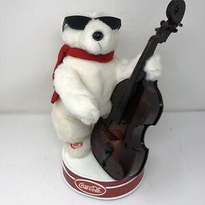 Vintage Coca-Cola Animated Christmas Jazz Dancing Cello Polar Bear