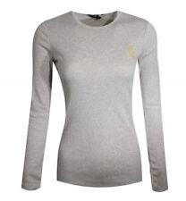 Lauren Ralph Lauren Grey Crew Neck Long Sleeve Cotton RLL Crest Logo Shirt XXS