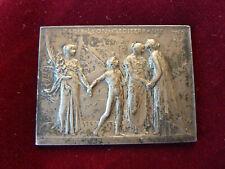 plaque en argent commemorative P.L.M assemblée des actionnaires,Roty,58,7g
