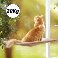 Cat Bed Hammock Window Mount Fleece Covered Warm Hanging Pet Seat Lounge Seat
