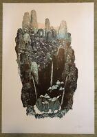 Kai Schiemenz, Ohne Titel, Holzschnitt, 2013, mit Bleistift handsigniert