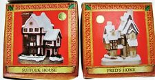2 Ornaments David Winter Old English House Cottages Fred's Home Suffolk Holiday